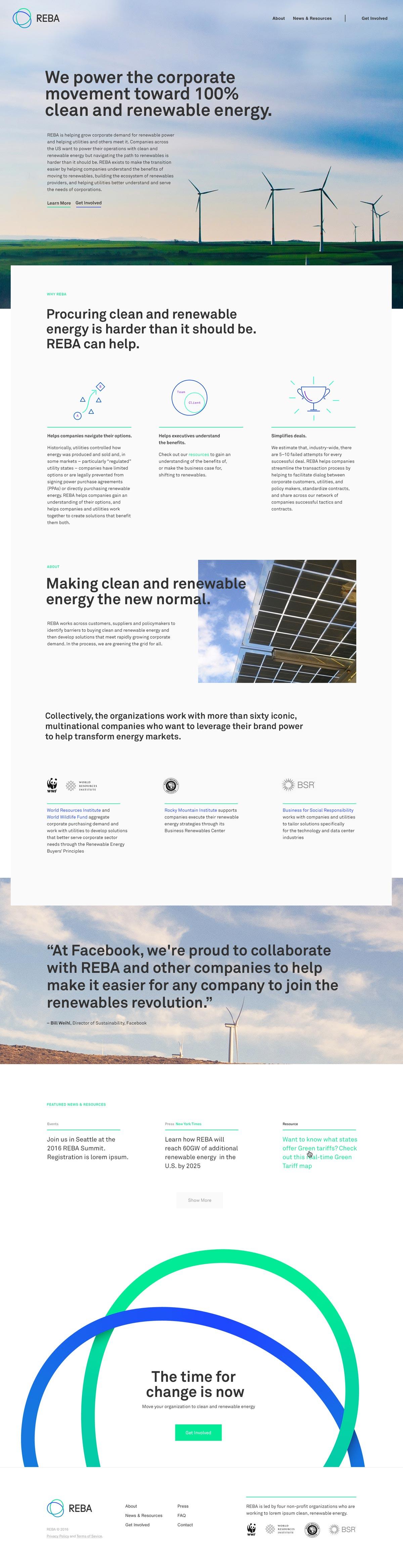 REBA Website Homepage