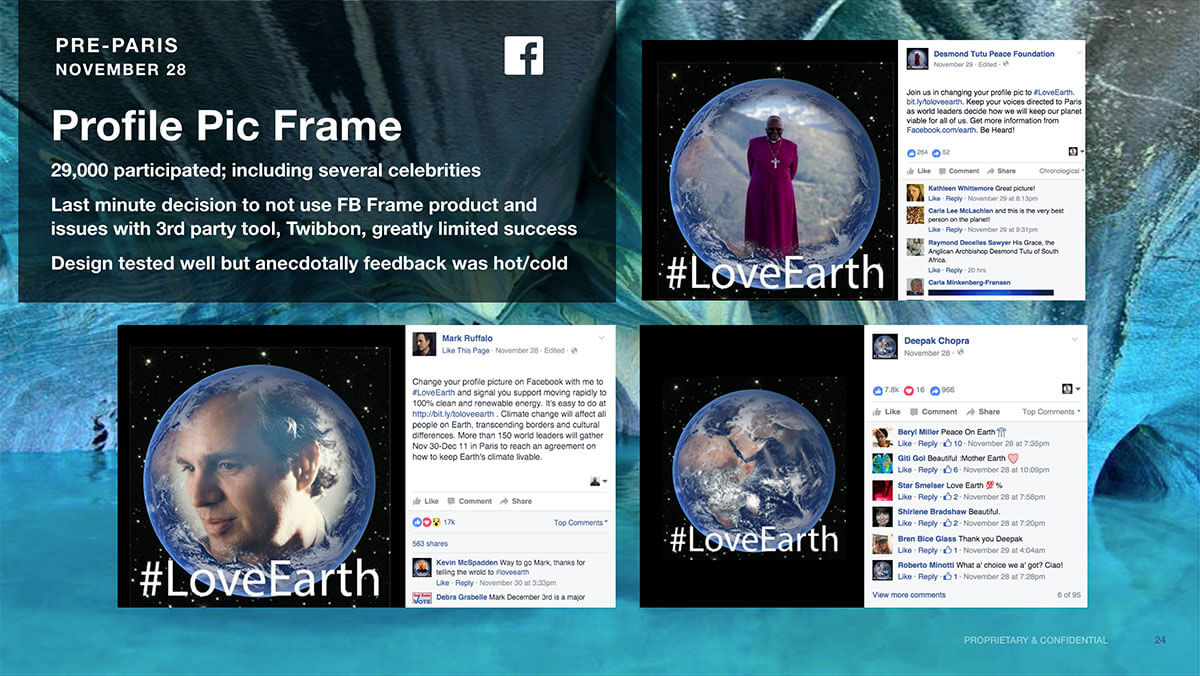 LoveEarth Facebook Profiles