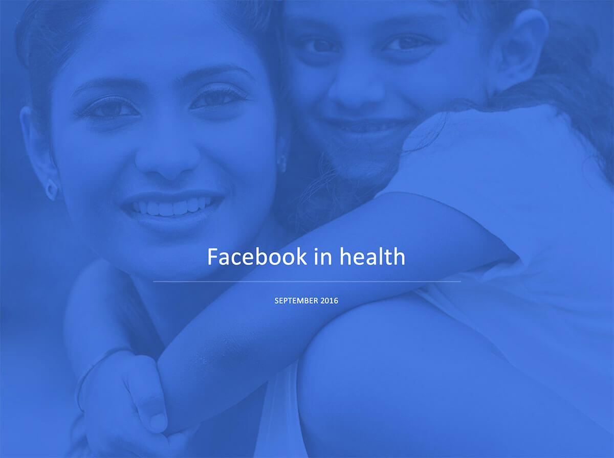 Facebook Health Strategy
